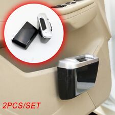 2pcs Car Interior Moulding Door Rubbish Garbage Waste Trash Holder Dust Case Bin