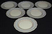 Royal Doulton England Grey Ventura / Gray Rim 6 Salad Plates V2024 Bone China
