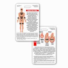 Rule of 9 Burn Chart Vert Badge Reference ID Pocket Card Nurse RN MD PA EMT Nine