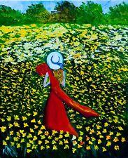 Flower Field Summer Natasha Petrosova Original Oil Painting Impressionism 16x20