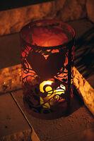 Edelrost Windlicht Herz Dekoration Garten Terrasse Beet Tisch Stumpenkerze Deko