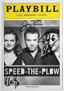 SPEED-THE-PLOW Cast Jeremy Piven, Elisabeth Moss, Raul Esparza Signed Playbill