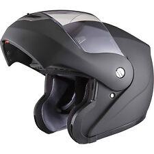 Shox Bullet Flip Up Front Matt Black Motorcycle Helmet Crash Scooter Motorbike