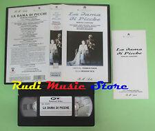 VHS P.I.Ciaikovsky LA DAMA DI PICCHE Marusin Gustafson Davis (CL2) no cd dvd lp