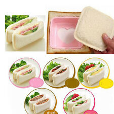 Love Heart Shape Sandwich Bread Toast Maker Mold Mould Cutter DIY Tool New