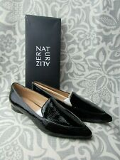NEW Naturalizer Women's Haines Black Patent Leather Slip-On Loafer Shoes Sz 11 M