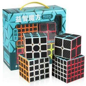 Zcube Carbon Fiber Speed Cube Bundle, 2x2 3x3 4x4 5x5 Speed Cube Set Pack Puzzle