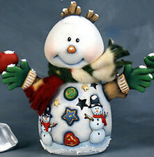 Ceramic Bisque Ready to Paint Snowball the snowman electric included