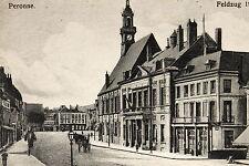 16368 Ak CPA Città Strada Costruzione Peronne Westlicher Kriegschauplatz Um 1915