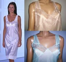 Built Up Shoulder Satin Feel Petticoats With Beautiful Lace Front From12 to 32.