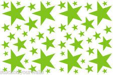 52 LIME GREEN STARS VINYL BEDROOM WALL DECALS STICKERS TEEN GIRLS DORM ROOM