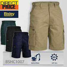 Bisley Cargo Shorts Original Cotton 8 Pocket Mens BSHC1007 NEW