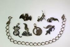 Sterling Silver Starter Charms & Chain Dinosaur Lighthouse Bat Bear Plus – 7058
