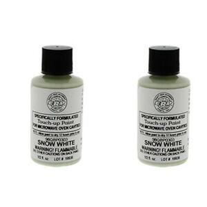 2 PACK - White Microwave Oven Cavity Touch-Up Paint 98QBP0303