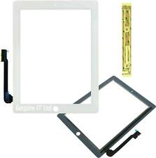 WHITE REPLACEMENT DIGITIZER TOUCH SCREEN FRONT GLASS FOR iPAD 3 WiFi 3G + Tape