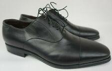 Magnanni Salamanca Black Leather Oxford Shoes Men's Size 10 M