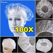100Pcs/Lot Disposable Shower Cap Women Men Plastic Hat Bath Caps for Spa Hair Us