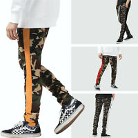 Mens Track Pants CAMO Sports Bottoms Joggers Gym Sweats Trousers Fashion Hipster
