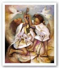 Ring Heaven's Bell Essud Fungcap African American Art Print 13x17