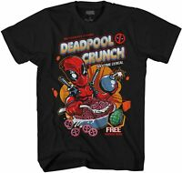 Marvel Deadpool Crunch Cereal Funny Adult Tee Graphic T-Shirt for Men Tshirt