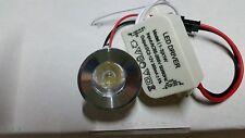 FARETTO LED 1W PUNTO luce  LUCE BLU A 220V SEGNAPASSO + DRIVER