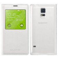 Genuine Samsung Galaxy S5 S View Flip Cover Case - White - EF-CG900BWEGWW