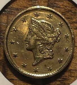 1853 Dollar Gold Liberty Head Au pl Nice Example Uncertified