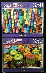 350 piece jigsaw puzzle  Puzzlebug (New & sealed)  Crayons Cactus
