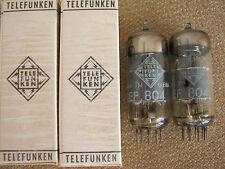 2x EF804  audio tubes  TELEFUNKEN   -  NOS  -  EF 804