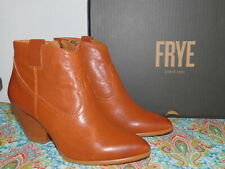 NEW WOMENS SIZE 6 COGNAC BROWN FRYE REINA LEATHER BOOTIE WESTERN ANKLE BOOTS
