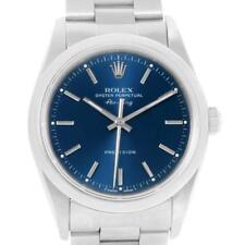 Rolex Air King 34 mm Blue Baton Dial Domed Bezel Mens Watch 14000