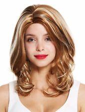Wig Ladies Women Middle Part Blonde Light Blonde Highlights Long 50cm GFW983
