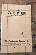 The Craftsman Supply Company Crafts Catalog 1950S 1001 Hobbies