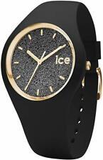 Ice-Watch Damen-Armbanduhr Glitter Schwarz 001349 rund Silikon Kristall Luxus