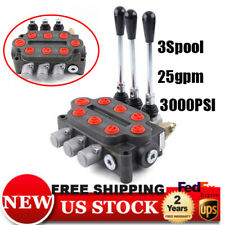 3 Spool Hydraulic Control Valve Double Acting 25 Gpm 3000 Psi Tractors loaders