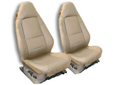 BMW Z3 1996-2002 BEIGE IGGEE S.LEATHER CUSTOM FIT FRONT SEAT COVER