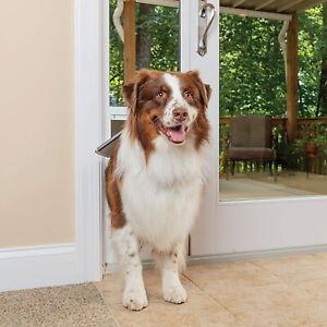 PetSafe Freedom Aluminum Patio Panel Sliding Glass Dog and Cat Door, Large