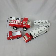 3 Vintage Tonka Pressed Steel Trucks, Fire Pumper, Car Transport