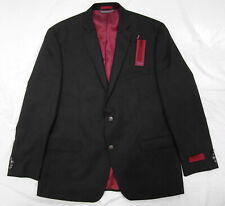 ALFANI RED Men's Solid Black Slim Fit Blazer/Jacket, NEW WITH TAGS, size 46R