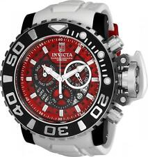 Invicta JT Jason Taylor Sea Hunter III Red White 70mm Full Size Watch Swiss New