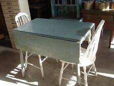 Vintage Drop Leaf Primitive Table/Two Chairs