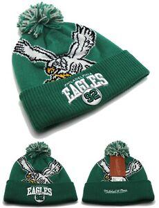 Philadelphia Eagles New Mitchell & Ness Reggie White Pom Beanie Knit Era Hat Cap