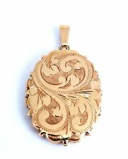 Heavy Quality 9ct Gold Picture Locket Pendant. Great Condition. NICE1