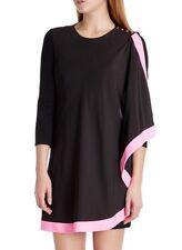 New! Ted Baker Women's Black Betriss One Side Draped Dress Sizes 0 And 1 UK $295