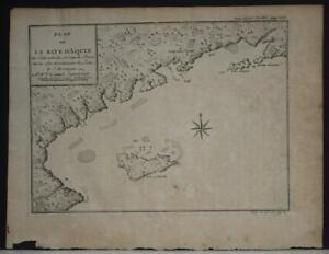 ÎLE-À-VACHE HAITI 1725 ANONYMOUS UNUSUAL ANTIQUE ORIGINAL COPPER ENGRAVED MAP