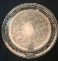 Vintage Fancy Silver Plate Tray By William Rogers #4272P