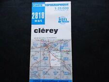 Carte IGN bleue  2818 est  clerey 1983