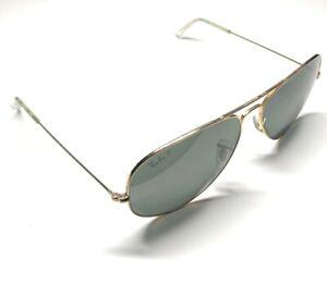 B&L Ray Ban USA 62[]14 Gold Aviator Sunglasses 21D