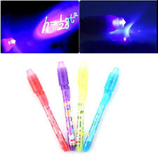 Invisible ink pen and UV black light combo secret spy message 8-4