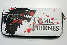 Wallet Game Of Thrones Stark Wolf Long Purse Women Lady Faux Leather Zip